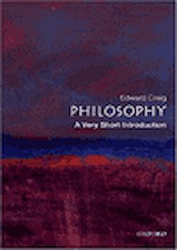 Philosophy. A Very Short Introduction