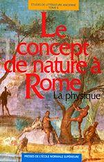 Téléchargez le livre numérique:  Le concept de nature à Rome