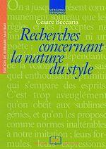 Téléchargez le livre :  Recherches concernant la nature du style