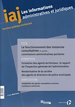 Download this eBook Le fonctionnement des instances consultatives (2ème partie) : commissions administratives paritaires (CAP)