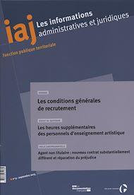 Téléchargez le livre :  IAJ : Les conditions générales de recrutement