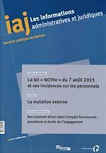 Download this eBook La loi NOTRe et ses incidences sur les personnels