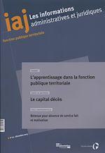 Download this eBook L'apprentissage dans la fonction publique territoriale
