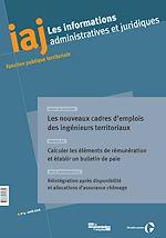 Téléchargez le livre :  IAJ : Les nouveaux cadres d'emplois des ingénieurs territoriaux - Avril 2016