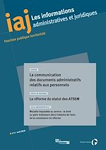 Download this eBook IAJ : La communication des documents administratifs relatifs aux personnels - Avril 2018