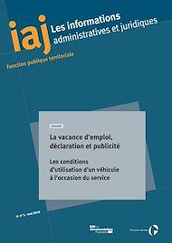 Téléchargez le livre :  IAJ : La vacance d'emploi, déclaration et publicité - Mai 2018