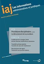 Download this eBook IAJ : Procédure disciplinaire (2e partie) : le déroulement de la procédure - novembre 2018