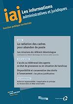 Téléchargez le livre :  IAJ : La radiation des cadres pour abandon de poste - Juillet/Août 2019