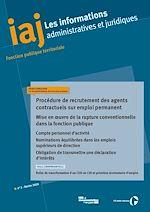 Téléchargez le livre :  IAJ : Procédure de recrutement des agents contractuels sur emploi permanent - Mars 2020
