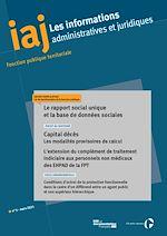 Download this eBook IAJ : Le rapport social unique et la base de données sociales - Mars 2021