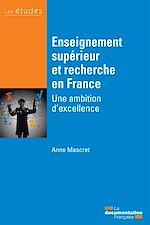 Téléchargez le livre :  Enseignement supérieur et recherche en France