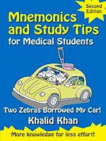 Téléchargez le livre :  Mnemonics and Study Tips for Medical Students: Two Zebras Borrowed My Car [Second Edition]