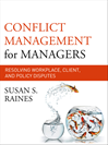 Download this eBook Conflict Management for Managers
