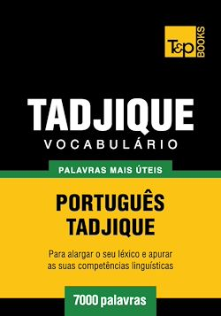 Vocabulário Português-Tadjique - 7000 palavras mais úteis