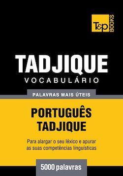 Vocabulário Português-Tadjique - 5000 palavras mais úteis