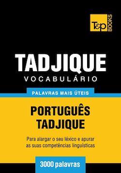 Vocabulário Português-Tadjique - 3000 palavras mais úteis