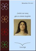 Download this eBook Lettre sur ceux qui se croient inspirés