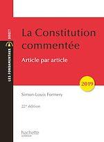 Téléchargez le livre :  La Constitution commentée 2019
