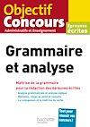 Télécharger le livre :  Objectif Concours Grammaire et analyse 2020
