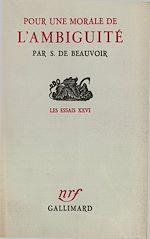 Download this eBook Pour une morale de l'ambiguïté