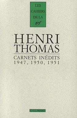 Download the eBook: Carnets inédits (1947, 1950, 1951) suivi de Pages 1934-1948