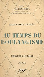 Download this eBook Au temps du Boulangisme