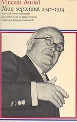 Download this eBook Mon septennat, 1947-1954