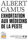 Télécharger le livre :  Tracts de Crise (N°33) - Exhortation aux médecins de la peste