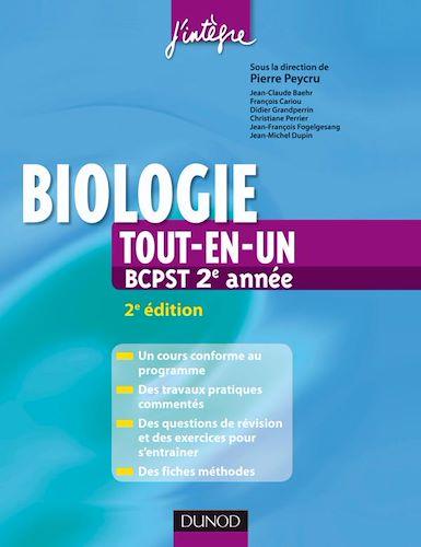 Biologie tout-en-un BCPST 2e année 2e Edition