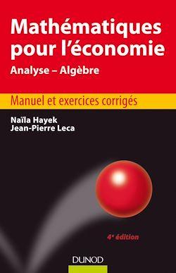 Mathématiques pour l'économie - 4e éd.