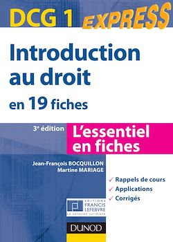 Introduction au droit DCG 1- 3e éd.