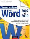 Télécharger le livre :  Travaux pratiques avec Word 2007 et 2010