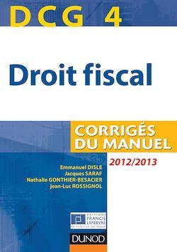 DCG 4 - Droit fiscal 2012/2013 - 6e édition