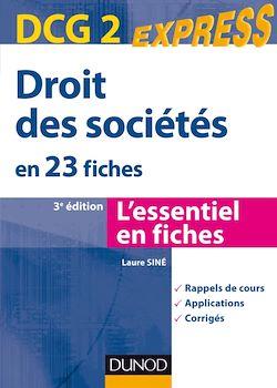 Droit des sociétés DCG 2 - 3e édition