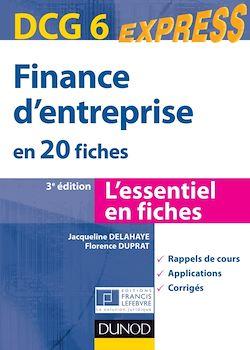 Finance d'entreprise - DCG 6 - 3e éd.