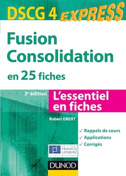 Fusion Consolidation - DSCG 4 - 3e éd