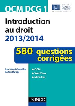 QCM DCG 1 - Introduction au droit 2013/2014