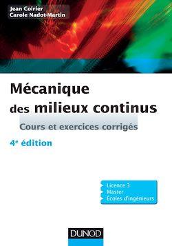 Mécanique des milieux continus - 4e édition