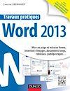 Télécharger le livre :  Travaux pratiques - Word 2013