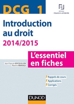 DCG 1 - Introduction au droit - 2014/2015 - 6e éd