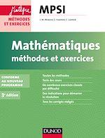 Télécharger cet ebook : Mathématiques Méthodes et Exercices MPSI - 3e éd.