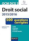 QCM DCG 3 - Droit social 2015/2016 - 3e éd.