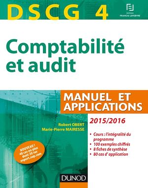 Téléchargez le livre :  DSCG 4 - Comptabilité et audit - 2015/2016 - 6e éd.