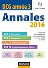 DCG Année 3 - Annales 2016