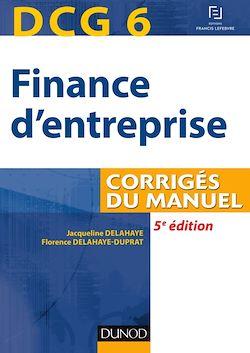 DCG 6 - Finance d'entreprise - 5e éd