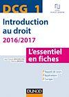 Télécharger le livre :  DCG 1 - Introduction au droit - 2016/2017 - 7e éd.