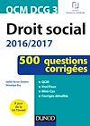 QCM DCG 3 - Droit social 2016/2017 - 4e éd.