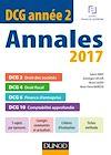 DCG Année 2 - Annales 2017 - 2e éd