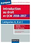 Télécharger le livre :  Introduction au droit en QCM 2016-2017 - 4e éd.