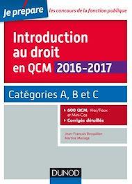 Téléchargez le livre :  Introduction au droit en QCM 2016-2017 - 4e éd.